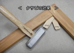 キャンバス木枠のクサビ効果